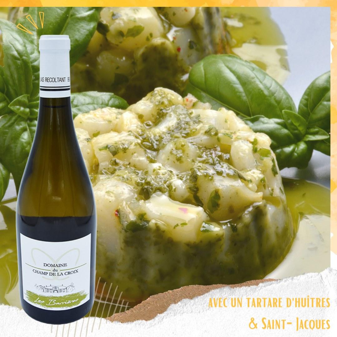 Vin Blanc Les Barrières : avec quoi le déguster ?